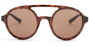 Lyst Armani exchange Women s Round Aviator Sunglasses in Brown