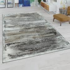 kurzflor wohnzimmer teppich modern abstraktes muster used look in beige grau grösse 120x170 cm