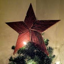 Red Barn Wood Christmas Tree Toppers Made From Boards Taken Kentucky Barns 33