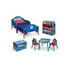 Paw Patrol Bedroom Set Kids Furniture Chest Desk 2 Chairs W Toy