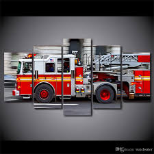 2019 Canvas Art HD Printed Fire Engine Canvas Paintings For Living ...