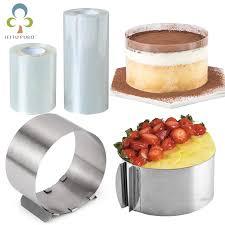 einstellbare mousse ring runde form mousse kuchen rand kragen küche zubehör diy backen werkzeuge kuchen dessert dekoration gyh