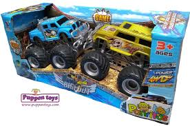 Box With 2 Bigfoot 4x4 Drive Cars JINHENG - Juguetes Puppen Toys