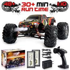 100 Gas Powered Remote Control Trucks 110 Scale Large RC Cars 48 Kmh Speed Boys Car 4x4 Off Road Monster Truck Electric All Terrain Waterproof Toys For Kids And