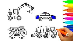 100 Construction Truck Coloring Pages Learn Colors With Car And Construction Truck Coloring Pages