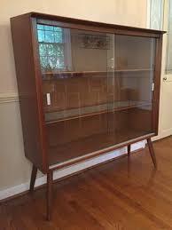 Mid Century Modern Drexel Profile Display Cabinet By John Van Koert
