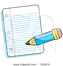 Paper clipart writing paper Pencil and in color paper clipart