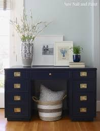 Pottery Barn Seagrass Headboard Craigslist by Navy Blue Campaign Style Desk Shopping Desks And Office Designs