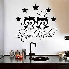 wandtattoo loft 5 sterne küche und eulenköche wandtattoo 49 farben 3 größen schwarz 20 x 21 cm