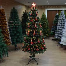 6ft Artificial Christmas Tree Pre Lit by Led Fibre Optic Christmas Tree Various Design Lightings Pre Lit