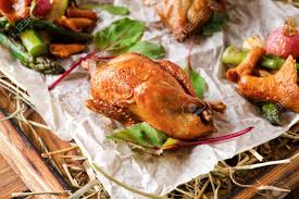 100 Golden Crust Excuisite Restaurant Food Quails Baked To Golden Crust With