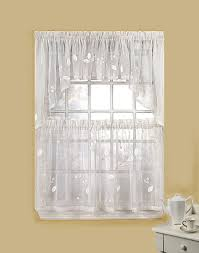 White Kitchen Curtains Valances by French Country Kitchen Curtains E2 80 94 All Home Designs Image Of