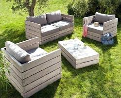 Pallet Furniture Forming Armchairs Sofa And Table Outdoor For Sale