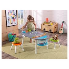 Easel Desk With Stool by Kidkraft Chalkboard Art Table With Stools Target