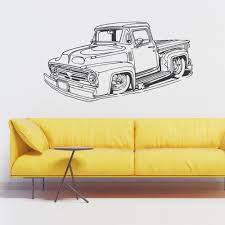 Classic Ford Pickup Truck Wall Decal Sticker Cars Wall Decals Best Vinyl Decal Monster Truck Garage Decor Cstruction For Boys Fire Truck Wall Decal Department Art Custom Sticker Dump Xxl Nursery Kids Rooms Boy Room Fire Xl Trucks Stickers Elitflat Plane Car Etsy Murals Theme Ideas Racing Art