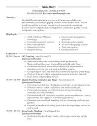 Sample Of Construction Resume Journeymen Plumbers Office Manager Company