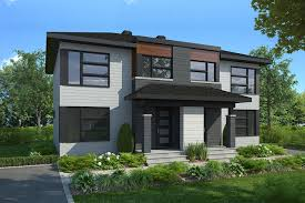 100 Contemporary Duplex Plans Charny 22700 The House Plan Company