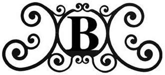 Amazon Iron House Name Plaque Letter B 24