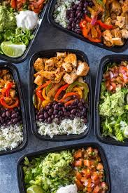 Meal Prep Chicken Burrito Bowls From Gimme Delicious