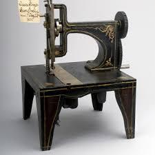 Issac Singers Sewing Machine Patent Model