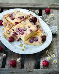 puddingkuchen mit kirschen kuchen pudding kuchen backrezepte