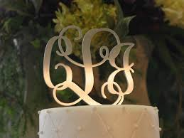 Metal Vine Monogram Cake Topper
