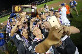 Chomping at Bits Florida baseball celebrates College World Series