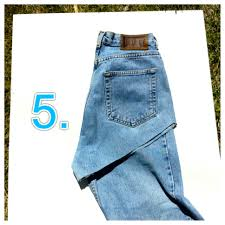 diy high waisted denim shorts step by step instructions with