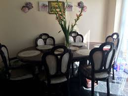 Living Room Makeovers Uk by Italian Shiny Wood Dining Table With Chairs Picclick Uk Of Idolza