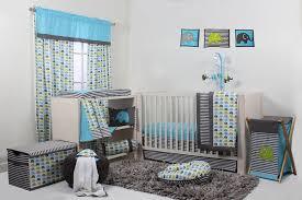 Bacati Elephants Aqua Lime Grey 10 pc crib set without Bumper Pad