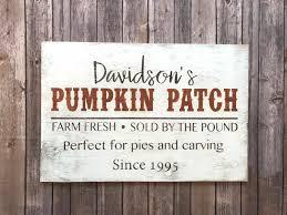 Caledonia Pumpkin Patch by Custom Pumpkin Patch Sign Farmhouse Custom Pumpkin Sign 16h X 24w