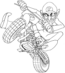 Printable Mario Kart Coloring Pages