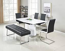 jymtom sitzbank esszimmer weiß grau schwarz esszimmerbank wohnzimmer essstuhl aus kunstleder mit edelstahlbasis sofabank schwarz
