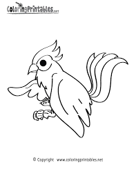 Jungle Bird Coloring Page Printable