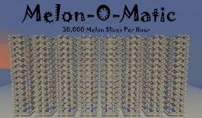 Minecraft Pumpkin Farm 111 by Automatic Melon Farm 30 000 Melon Slices An Hour Minecraft Project