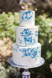 Hand Painted Toile Inspired Wedding Cake