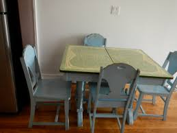 1940s Dining Kitchen Table With 4 Matching Chairs Velma Vintage