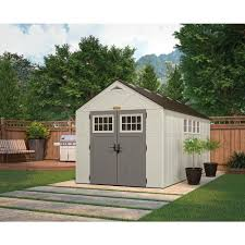 tremont 16 ft 3 1 4 in x 8 ft 4 1 2 in resin storage shed with