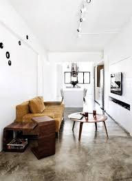 estrich der fußboden im industrial style wohnzimmer