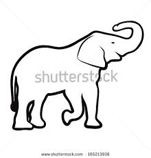 elephant outline vector Dye It Must Try It