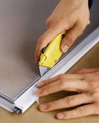 Hardwood Floor Spline Glue by How To Repair Window Screens Martha Stewart