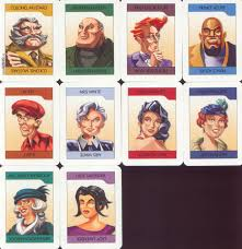 Clue Board Game Characters Clipart