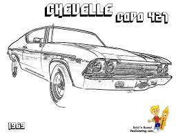 Amazing Muscle Car Coloring Pages 85 About Remodel Free Kids With