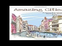Amazing Cities A Coloring Book Of Fantastic Places In The World Adult Books Citi