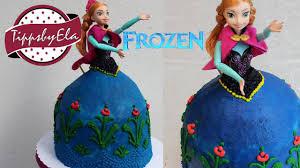 torte sahne torte elsa die eiskönigin anleitung ohne fondant