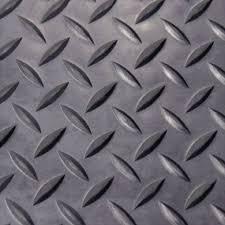 Home Gym Floor Mat Diamonds Plate Rubber Roll Garages Flooring Black Industrial
