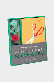 fice Supplies Paint by Number Postcards Kit – Tigertree