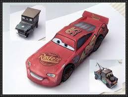 Three Disney Cars Paper Free Vehicle Models Download