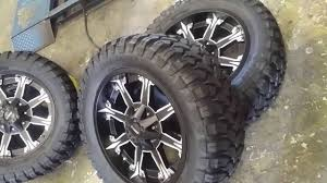 877-544-8473 20 Inch Dcenti 920 Black Truck Wheels Mud Tires Nitto ...