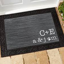 Personalized Family Initials Doormat Standard For The Home